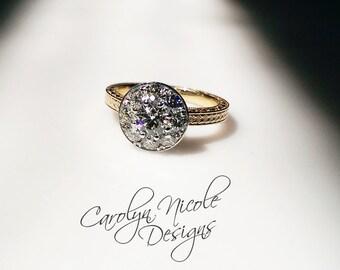 Vintage Bezel Cluster Ring