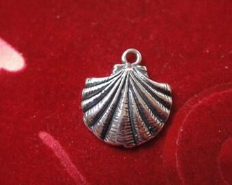 925 sterling silver sea shell, silver sea shell, sea life, sea shell