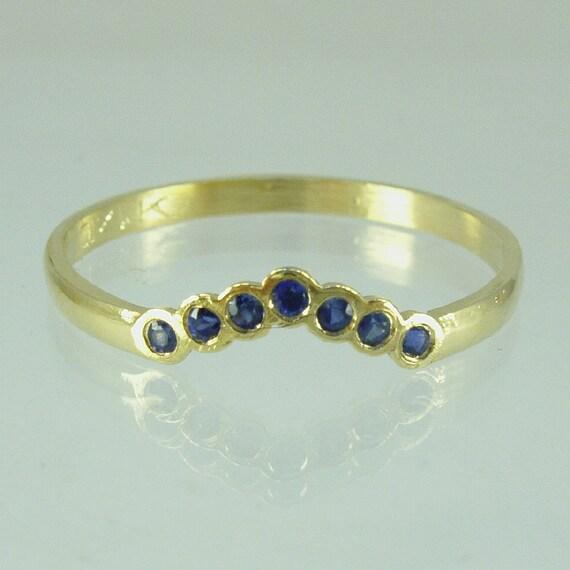 Sapphire Engagement 14 Karat gold ring engagement ring