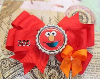 Elmo Hair Bow. Sesame Street Hair Bow. Elmo Accessories. Sesame Street Accessory. Sesame Street Birthday. Character Hair Bow. Elmo Birthday