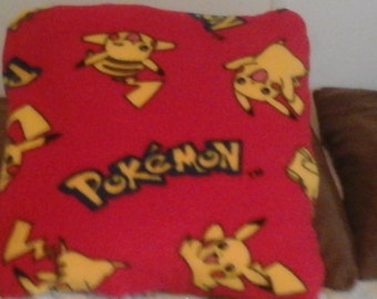 Pokemon  throw pillow back is sold red approximately 14X14 inches