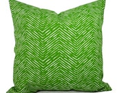 Two Outdoor Pillow Covers - 20 x 20 Pillow Cover - 18x18 Pillow Cover - 16x16 Pillow Cover - Patio Pillow - Green Pillows - Outdoor Pillows