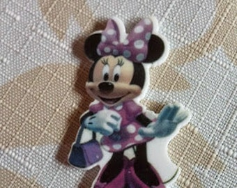 2ct Minnie mouse resin- crafting centers- hair bow centers-resin