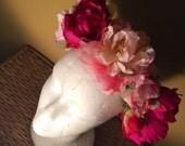 Le pink floral headpiece