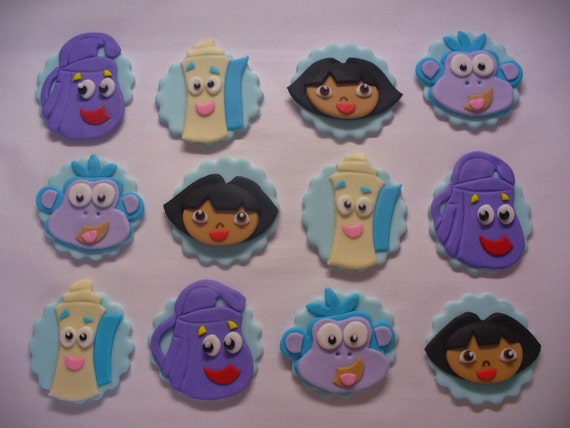 Dora Edible Cake Toppers