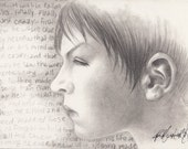 Original Art by PeeMonster - 'The Emancipation of Devon' (from Diary of a Broken Boy) graphite drawing boy son empath spiritual