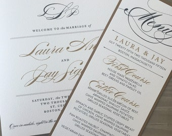 Elegant Wedding Menus and Place Cards //Purchase this listing to Get Started