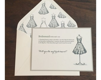 Bridesmaid Letter // Elegant and Timeless // Bridal Party Invitations // Purchase this Deposit to Get Started