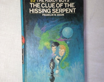The Hardy Boys Book 1974 Grossett and Dunlap 53 The Clue Of The Hissing Serpent