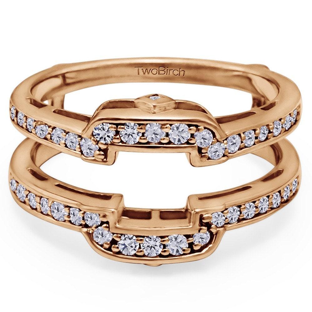 square halo wedding ring guard sterling silver ring enhancer. Black Bedroom Furniture Sets. Home Design Ideas