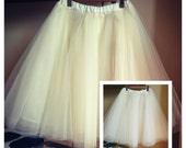 Tutu//Tulle Skirt//FULL CIRCLE SKIRT// Womens//All Colors available// lined//Customized as per order