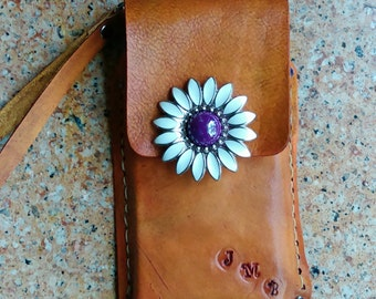 Custom Android / iphone wallet  /wristlet  made to order