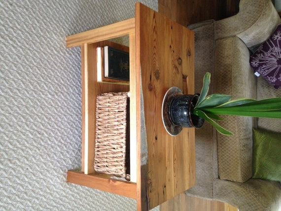 The Espresso Small Coffee Table Reclaimed Heart Pine Coffee