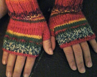solde/ Fingerless gloves/ mitaines sans doigts
