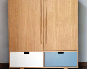 Cabinet furniture design TV with drawers and hinged doors