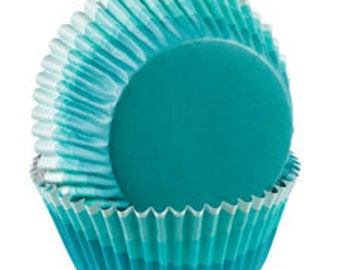 Wilton blue cupcake liners, blue baking cups, muffin liners, party bake cups, birthday cupcakes, cupcake papers, birthday party