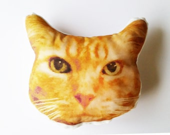 Custom Cat Face Pillow Medium, Graduation Gift