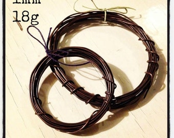 1mm (18g) hand-antiqued copper wire 1mm (18g), 3m/10ft, antique copper wire, oxidized copper wire, sealed copper wire, 3 metres