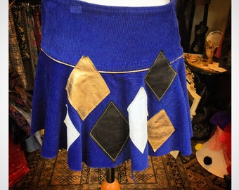 Cord Patchwork Skirt