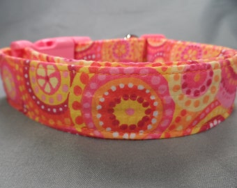 Colorful Calypso Summer Girl Dog Collar