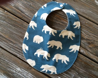 ORGANIC Baby/Toddler Bibs ~ Nature//Bear//Woodland//Natural//Tribal//Hunting//Native