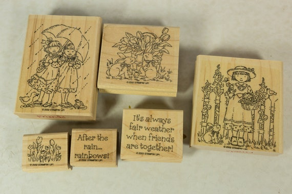 stamp craft ideas stampin up set rubber stamp collection friends garden 2996