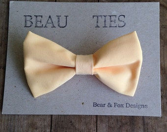 Baby Boy Toddler clip-on bow tie Peach