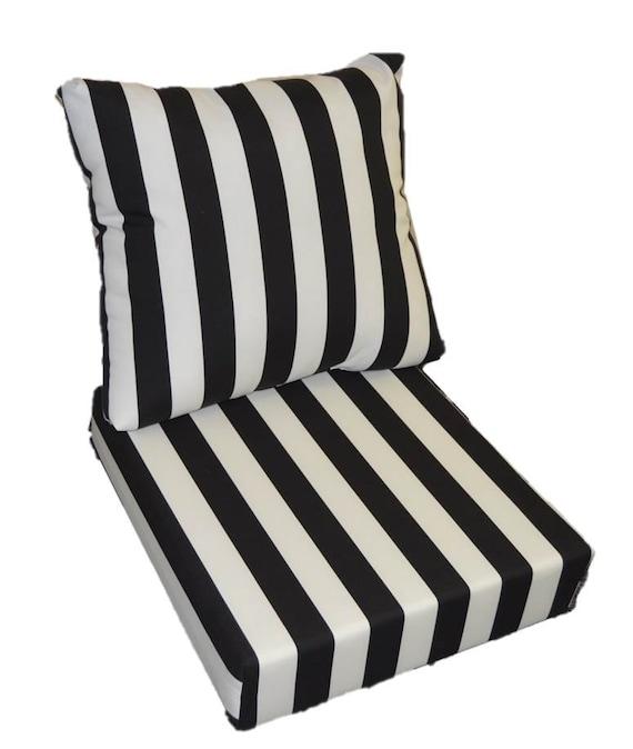 black white stripe cushion for outdoor seat furniture