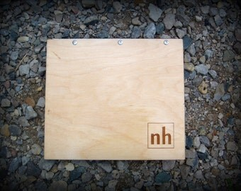 Personalized Portfolio Business Wood Portfolio Monogramed Portfolio Wooden Art Portfolio Book Laser Engraved Screw Post Portfolio Customized
