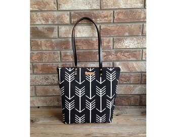 Purse - Canvas Purse - Leather Bag - Black Purse - Shoulder Purse - Shoulder Bag - Leather Purse Straps - Zipper Bag
