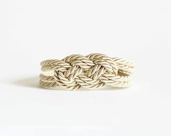Ivory Bracelet, Ivory Knot Bracelet, Rope Bracelet,Sailor Knot,Love Knot,Silk Rope Knot Bracelet,Nautical Bracelet,Knot,Nautical Knot,Ivory