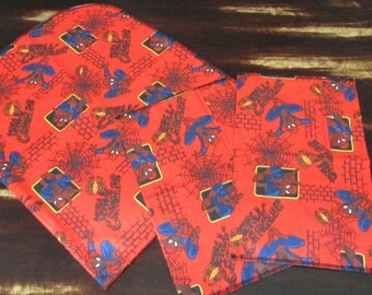 Spiderman Baby Blanket with Burp Cloths