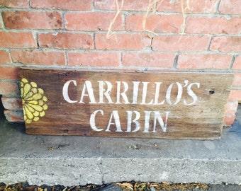 Custom Rustic Barn Wood Sign, Last Name Sign, Repurposed Wooden Sign
