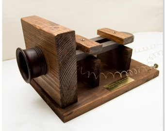 Graham Bell's First telephone. (Functional)