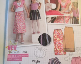 Simplicity 2576 learning to sew pattern  Size HH 3,4,5,6 girls uncut K