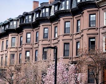Photo Print - This is Boston, Columbus Ave., Back Bay, Boston, Massachusetts, Brownstones, Boston Architecture