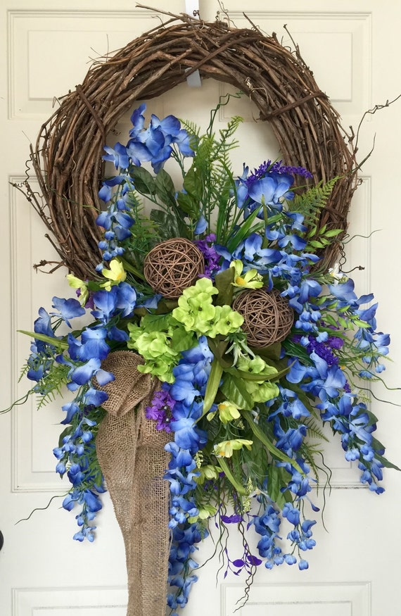 Unavailable listing on etsy for Colorful summer wreaths