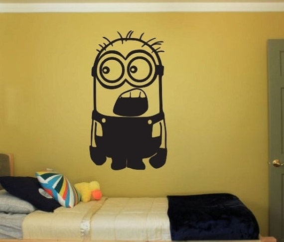 Minion Vinyl Wall Decal Sticker Despicable Me Large Kids - Minion wall decals