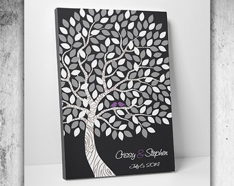 Guest Book Alternative - Unique Wedding Guest Book - 75-100 Guests - Wrapped Canvas - 16x20,20x30 or 24x36 Inches