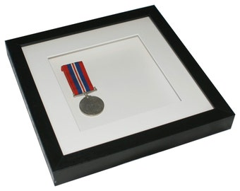 Deep shadow box display frame, 9 x 9 for medals, tiles, decoupage, paper sculpture, 3D items