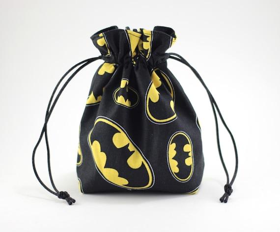 SALE Batman Symbol Drawstring Bag, Dice Bag
