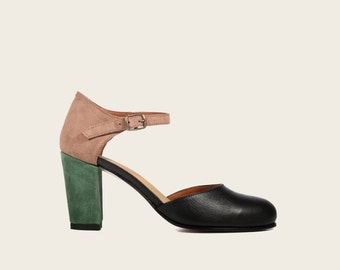 STYLE 1981 Black Pink Green Mary Jane