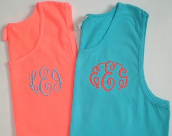 Bachelorette Beach Party Tank Tops Monogrammed Bridal Party Gifts Swim Suit Cover