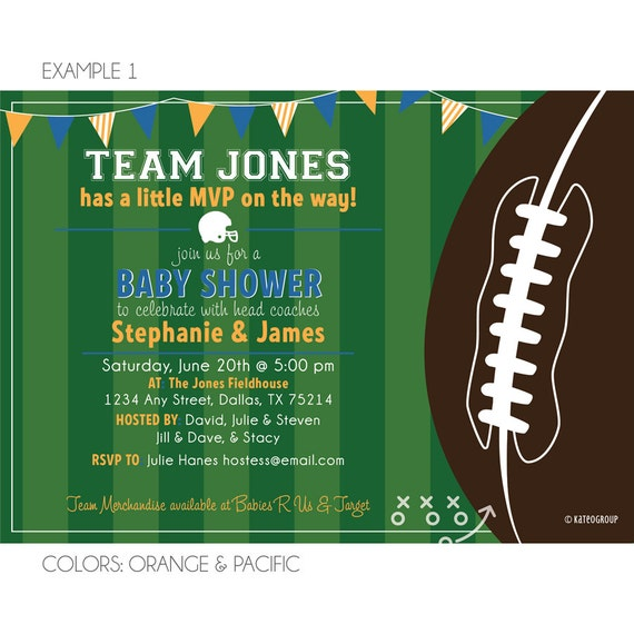 items similar to football theme baby shower on etsy