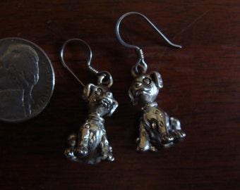 NIce Pair of Silver Metal DISNEY DALMATION Dog EARRINGS
