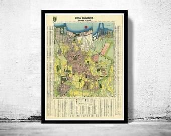 Vintage Map of Jakarta Batavia Indonesia
