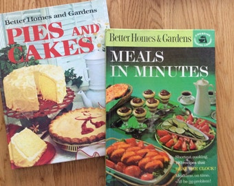 Cookbooks, Better  Homes & Gardens, Meals in Minutes and Pies and Cakes