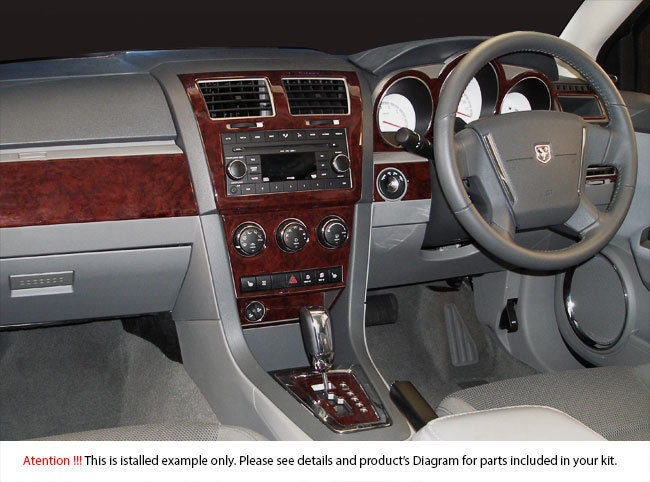 Dodge avenger 2008 2009 2010 interior madera tablero dash trim - 2008 dodge charger interior trim ...
