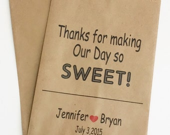 Wedding Candy Buffet Bags, Custom Candy Bar Bags, Favor Bags, Bags for Candy