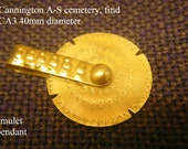 anglo saxon spinning amulet pendant cannington cemetery find living history reenactment use